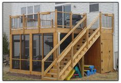 Screened in porch and storage closet under the deck.
