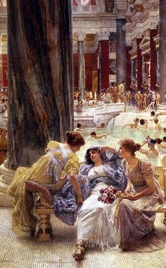 The Baths of Caracalla | Alma-Tadema | Painting Reproduction 53 at TOPofART.com