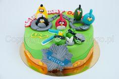 angry birds cake, angry bird, policja, police, www.rogwojskiego.pl