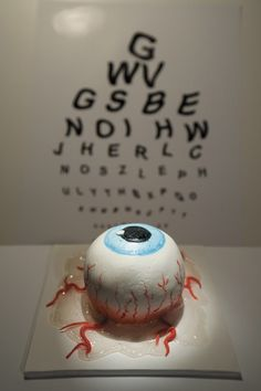 Edible Art. Halloween fun. twisted-eyeball cake