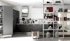 Diseño de Interiores & Arquitectura: Cocinas Abiertas, Modernas y con Algunos Destellos de Color.