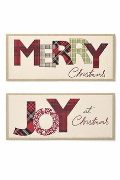 Buy Set Of 20 Tartan Wording Christmas Cards from the Next UK online shop - H8 x W18.5 cm - £4