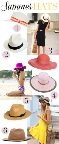MadeByGirl: Fashion: Summer Hats. I'm so glad my hair are longer now so i can wear these hats. Does not look good with short hair.