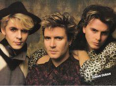 Duran Duran's Nick Rhodes Simon LeBon & JohnTaylor