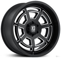 KMC XD Series XD824 Bones Satin Black Wheels