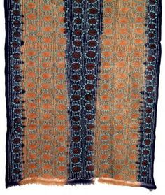 Kantha silk embroidery from Bangladesh.
