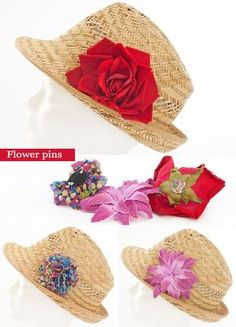 11 ideas on how to spice up a simple summer straw hat Sombrero Playero ee2fa97edd65