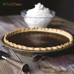 Michael Symon's Chocolate Pumpkin Pie #TheChew