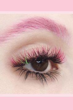 Applying False Eyelashes, Applying Eye Makeup, Fake Lashes, Eyelash Curler, Eyelash Extensions, Red Cherry Eyelashes, Eyelash Extension Course, Purple Mascara, Benefit Mascara