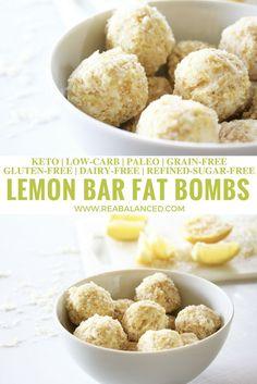 Lemon Bar Fat Bombs: keto, low-carb, paleo, grain-free, gluten-free, dairy-free, and refined-sugar-free!