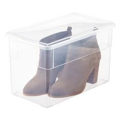 Everything that's great about Our Shoe Box, now with a size perfectly fit for high heels! Our Tall Shoe Box can accommodate upright high heels, and allows you to avoid having to rest heels on their side, causing potential wear-and-tear.