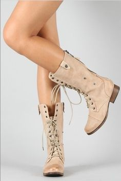 Military boots for spring! $40.00.