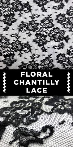 Black Floral Chantilly Lace