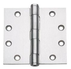 "Brushed Satin Nickel 4/"" X 4/"" w 5//8/"" Round Radius Door Hinge Contractor Pack US15"