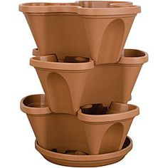 great idea, you could fill it with herbs!@Overstock - Imagine a home cascading with colorful flowers, tasty herbs or succulent strawberries with a multi-tiered planterMini Stack-A-Pot is perfect for a deck, patio, porch, balcony, or indoorsPlanter makes a perfect gift for gardenershttp://www.overstock.com/Home-Garden/Akro-Mils-14-quart-Mini-Stack-A-Pot/4392594/product.html?CID=214117 $31.80
