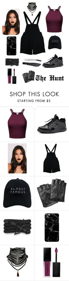 """Shadow Hunter Aethtetics #3"" by darya-makarova ❤ liked on Polyvore featuring American Apparel, Nasaseasons, Karl Lagerfeld, Monza, Harper & Blake and Smashbox"