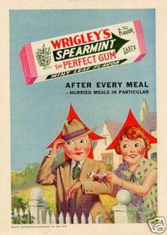 Wrigley's Spearmint Chewing Gum (1930).