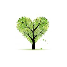 Clip Art Vector of Valentine tree, love, leaf from hearts csp3637076 -... ($10) ❤ liked on Polyvore