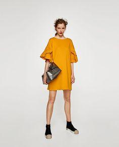 Vestito Popeline Volant Perle from Zara on 21 Buttons