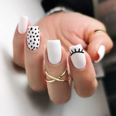 Acrylic Nails Coffin Short, Simple Acrylic Nails, Best Acrylic Nails, Acrylic Nail Designs, Simple Nails, Rounded Acrylic Nails, Cute Nail Art Designs, Summer Acrylic Nails, Short Nail Designs