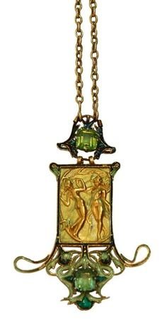 Very Rare Rene Lalique Art Nouveau Les Danseuses Necklace Bijoux Art Nouveau, Art Nouveau Jewelry, Jewelry Art, Vintage Jewelry, Fine Jewelry, Jewelry Design, Gold Jewelry, Unusual Jewelry, Belle Epoque