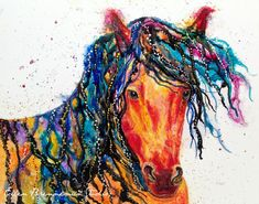 Power Animal series by Ellen Brenneman: Horse symbolizes freedom without limitation. He is powerful and carries himself with the knowledge that to 'be' in the present moment is to truly live. Assert your Power. Be free. Live your life. ~Be Like Horse~~~