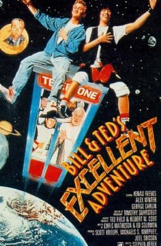 """Bill and Ted's Excellent Adventure. A 1989 film. A must see. I saw it for the first time when my bros were off at camp. The oldest thought it was going to be terrible when he asked what the heck this movie was doing on our """"Recently Watched"""" Netflix list. I told him he had to see it, and throughout the movie started liking it more and more. At the end, he loved it. And he's a pretty cool dude who's in highschool. If you want to see it, check it out on Netflix or wherever else you can find…"""