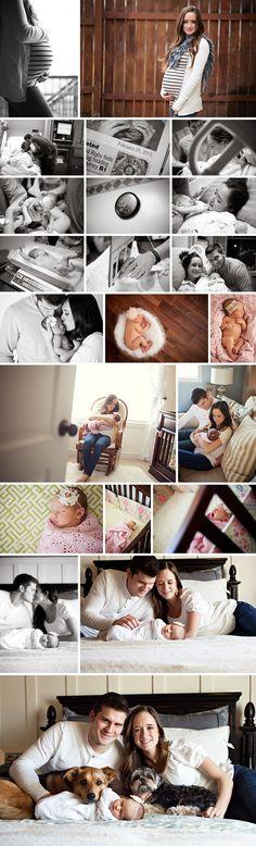 Lifestyle Newborn Photo Ideas