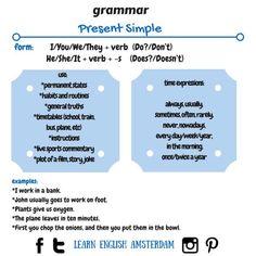 Grammar, tesol, tesl, tefl, present simple