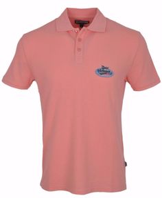 NEW Vilebrequin Men's Salmon Pink Cotton Polo Shirt MEDIUM #Vilebrequin #PoloRugby