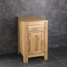 Corner Cloakroom Vanity Cabinet Solid Natural Oak with Internal Shelf OHIOS is part of Oak Bathroom cabinet - Ohio Space Saving One Door Corner Natural Oak Vanity Cabinet Oak Bathroom Cabinets, Glass Bathroom Sink, Oak Cabinets, Bathroom Furniture, Bath Panel Storage, Bathroom Storage, Bathroom Ideas, Corner Vanity Unit, Oak Corner Cabinet