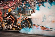 Drag Racing Galore - Top Fuel Bike Burnout