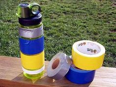 Keep extra duct tape for emergencies right on your water bottle.