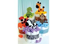 Morex Ribbon Mini Animal Diaper Cakes