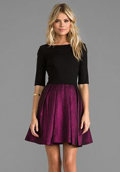a8be7c86d5 Sophisticated. Elegant. Gorgeous. This black and purple dress says it all.  Will