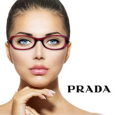 Authentic-PRADA-Dark-Red-Oval-Shaped-Eyeglass-Frames-VPR-05G-2BM-1O1-with-Studs