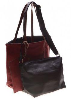 1acaaa2294a Rood-zwarte damestas, 2 voor de prijs van 1. Online uitzoeken en bestellen  bij Noa's Sieraden. Leuke bijoux, mode-accessoires, damestassen. Vlotte  levering.