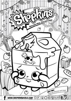 Shopkins Coloring Pages Season 4 Petkins Jingle Purse Milk ...