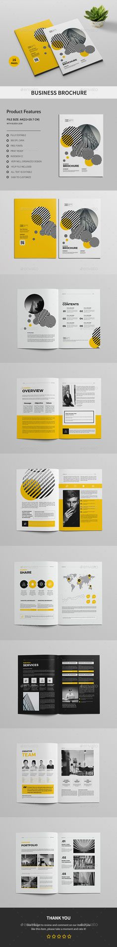 ِA4 Business Brochure — InDesign INDD #a4 #products • Download ➝ https://graphicriver.net/item/a4-business-brochure/19998837?ref=pxcr