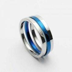 Mens Blue & Silver Colour Titanium Width: Titanium RingQuantity: one pieceWe bring you the best quality Rings. Titanium Jewelry, Titanium Rings, Blue And Silver, Silver Color, Jewellery Uk, Rings For Men, Silver Rings, Wedding Rings, Mens Fashion