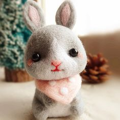 Needle Felted Felting Animals Bunny Rabbit Cute Craft | Feltify