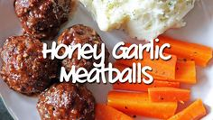 These honey garlic meatballs are my kids' favourite meal! Easy to make with a homemade honey garlic sauce. Give them a try! Makes a great freezer meal too.