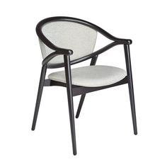 """The Umami armchair features a backrest made from two curving bentwood beech pieces that combine with four legs to create a sleek and slender frame. The upholstered seat is comfortable, the chair's form light & intriguing.Umami is a Japanese word that means """"essence of deliciousness"""", which is a fitting name for a hospitality dining chair of this aesthetic calibre. Outdoor Chairs, Outdoor Furniture, Outdoor Decor, Contemporary Dining Chairs, Fabric Suppliers, Four Legged, Armchairs, Hospitality, Japanese"""