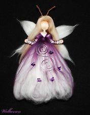 Artikelbild Wool Dolls, Felt Dolls, Fairy Crafts, Doll Crafts, Needle Felted Animals, Felt Animals, Felt Christmas, Christmas Crafts, Felt Angel