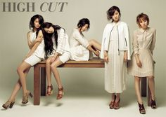 Ladies of 4minute transform into mysterious Spring women for 'High Cut' magazine #allkpop #kpop #4minute #HyunA