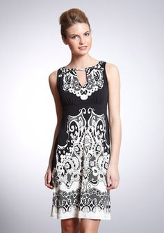 Love this style.  I have 3-4 dresses in this type of blk/wht combo.