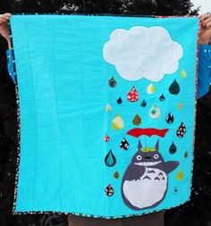 Hey, I found this really awesome Etsy listing at https://www.etsy.com/listing/229754876/totoro-quilt-40x44-baby-toddler-child