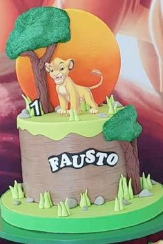 Take a look at this awesome Lion King-themed birthday party! The birthday cake is fantastic! See more party ideas and share yours at CatchMyParty.com Jungle Party, Safari Party, Jungle Safari, Lion King Birthday, Girl Birthday, Birthday Cake, Bridal Shower Cakes, Baby Shower Cakes, Animal Cakes