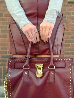 Fall Outfit | Leather Detail
