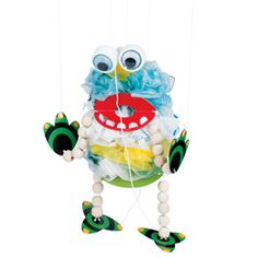 Plastic Bag Monster. Recycle craft.